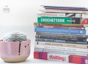 Minha estante de livros | Crochê Tunisiano