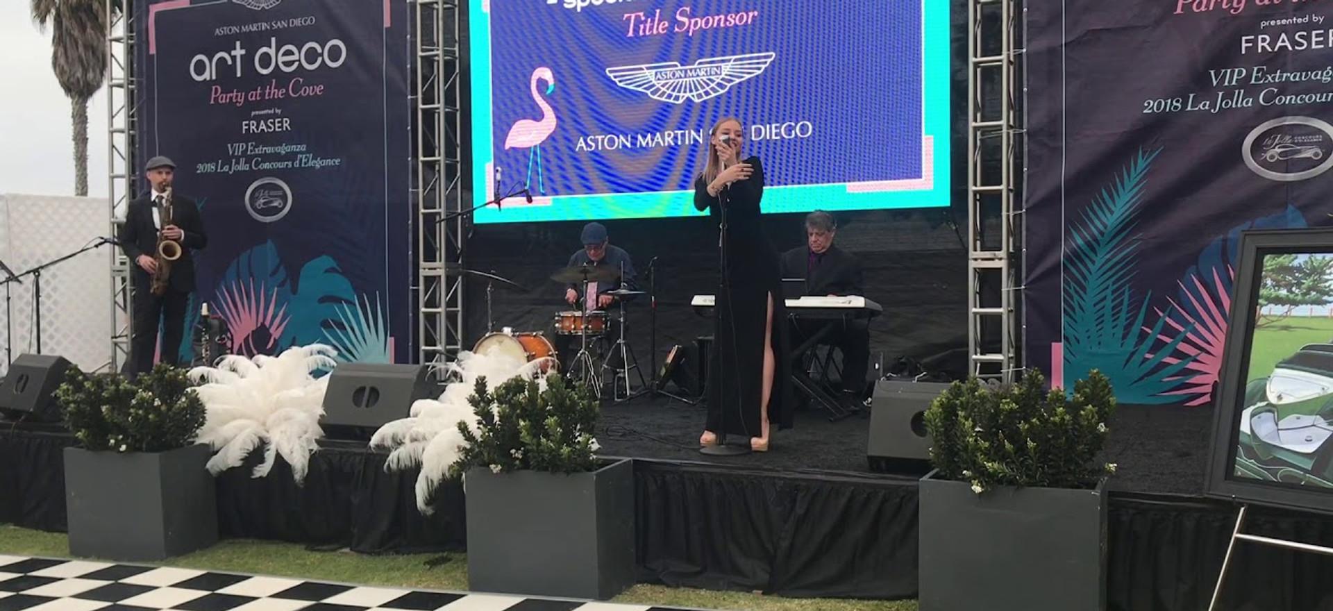 Christina Sofina sings at La Jolla Concours D'Elegance