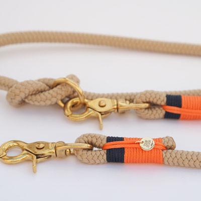 Beige, Oranje & Marineblauw