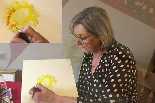 Watercolour Sunflower Workshop