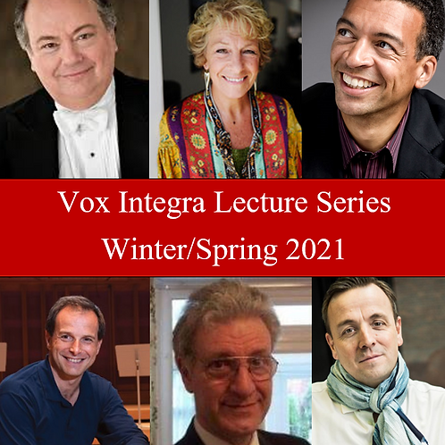 STUDENT OFFER Vox Integra Lecture Series Winter/Spring 2021