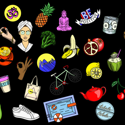 HEALTHY LIVING ICONS