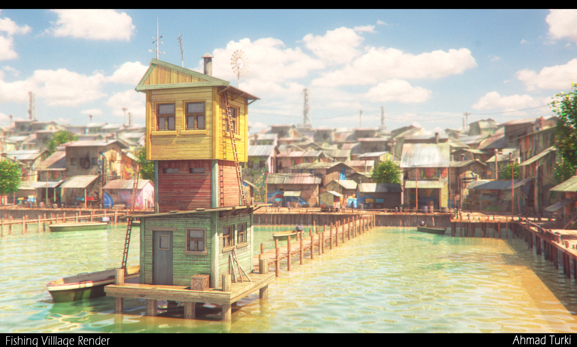 Fishing Village Render
