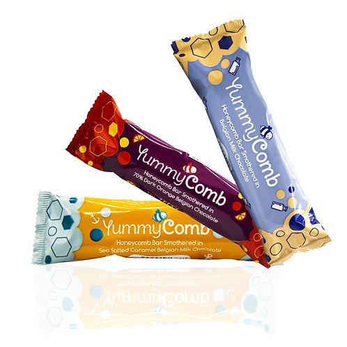 6 x MIXED Belgian Chocolate Honeycomb bars