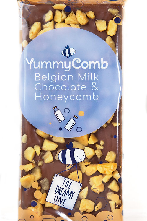 Milk Belgian Chocolate & Honeycomb Slab - The Dreamy One. Case of 12.