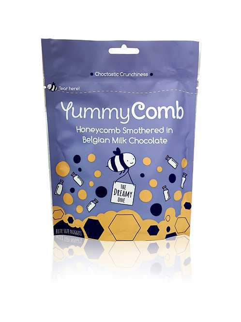 Belgian Milk Chocolate Honeycomb pouch. Case of 6.