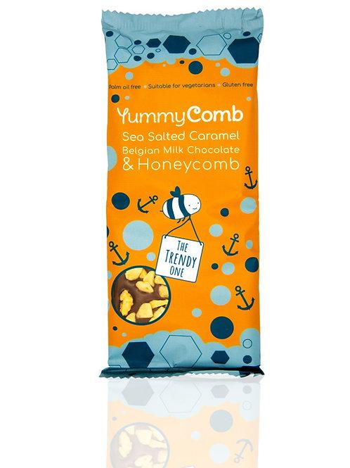 12 x Sea Salted Caramel Chocolate & Honeycomb Slabs (100g) The Trendy One