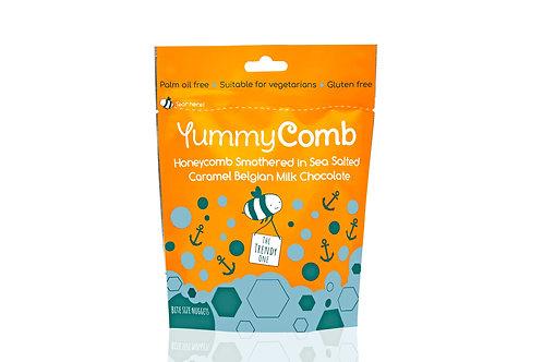 3 x Sea Salted Caramel Belgian Milk Chocolate Honeycomb, pouches (100g)