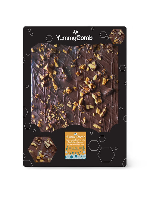 Sea Salted Caramel Belgian Chocolate & Honeycomb Giant Slab - The Trendy One