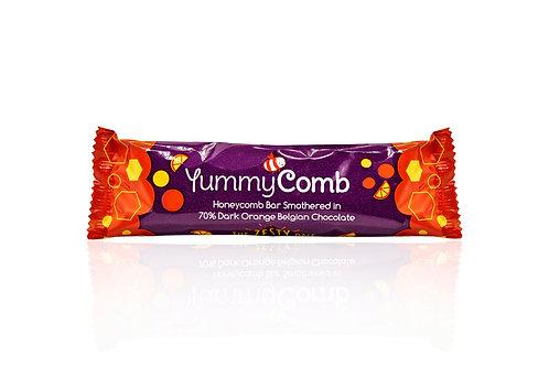 6 x 70% Dark Orange Belgian Chocolate Honeycomb bars (35g)