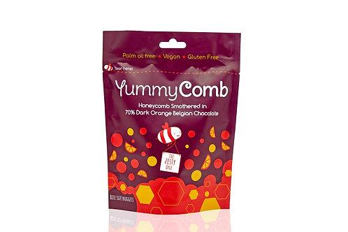 6 x 70% Dark Orange Belgian Chocolate Honeycomb pouches (100g)