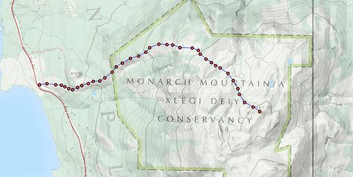 Atlin Hiking Monarch Mountain