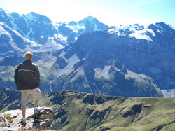 Viewing Eiger, Monch, and Jungfrau