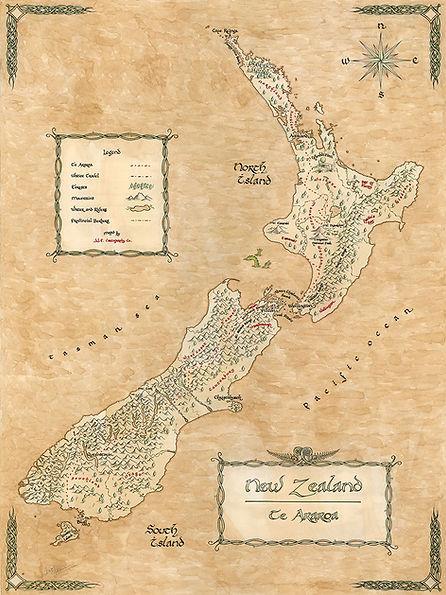 New Zealand Te Araroa Map