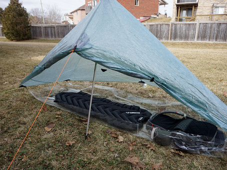 "DIY Ultralight ""Bathtub"" Groundsheet for $2.50"