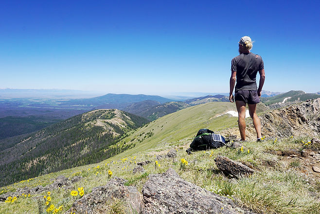 Looking out to the horizon in northern Colorado during a through hike of the Continental Divide Trail