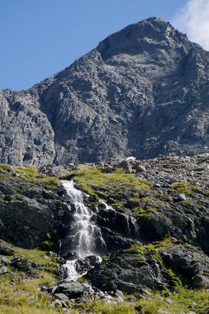 Mountain and Waterfall, Te Araroa, New Zealand