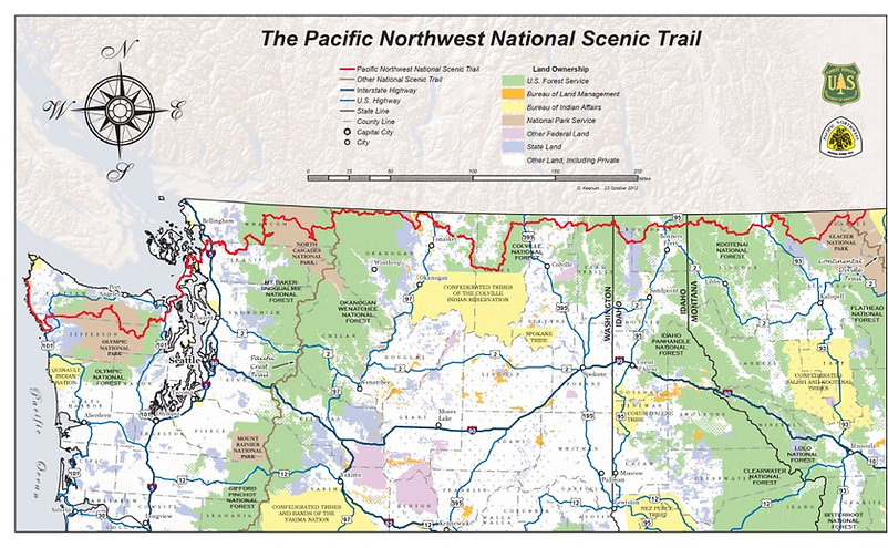 Pacific Northwest Trail Map
