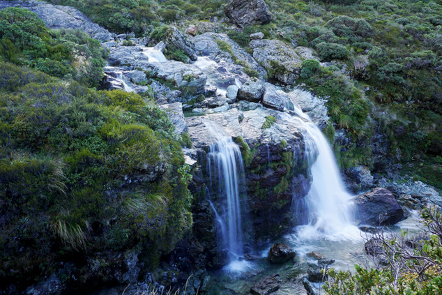 Small Smooth Waterfall, Routeburn Track, New Zealand