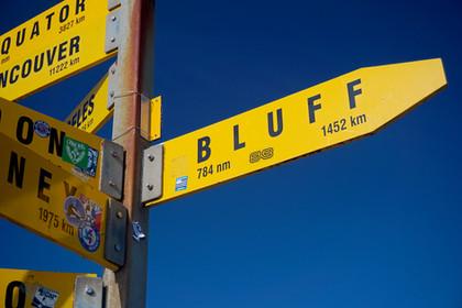 Cape Reinga Bluff Sign