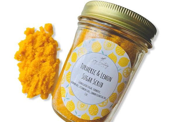 Turmeric and Lemon sugar scrub
