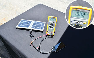 Solar charger test