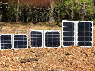 Our Solar Chargers At Lake Trinity CA