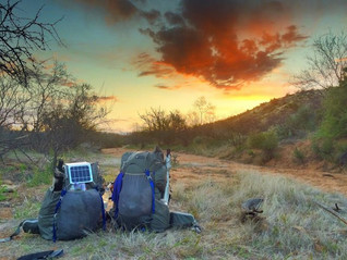 The Suntactics sCharger-5 is the lightest weight solar charger you will find for your hiking adventu