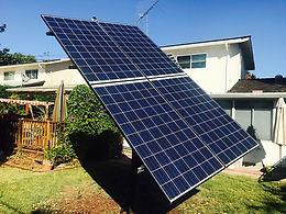 Solar tracking the sun