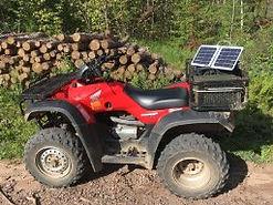Solar charging while farming