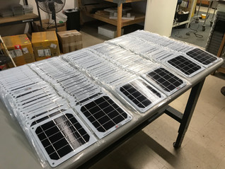 Suntactics continues to ship solar chargers to Puerto Rico through the United Way