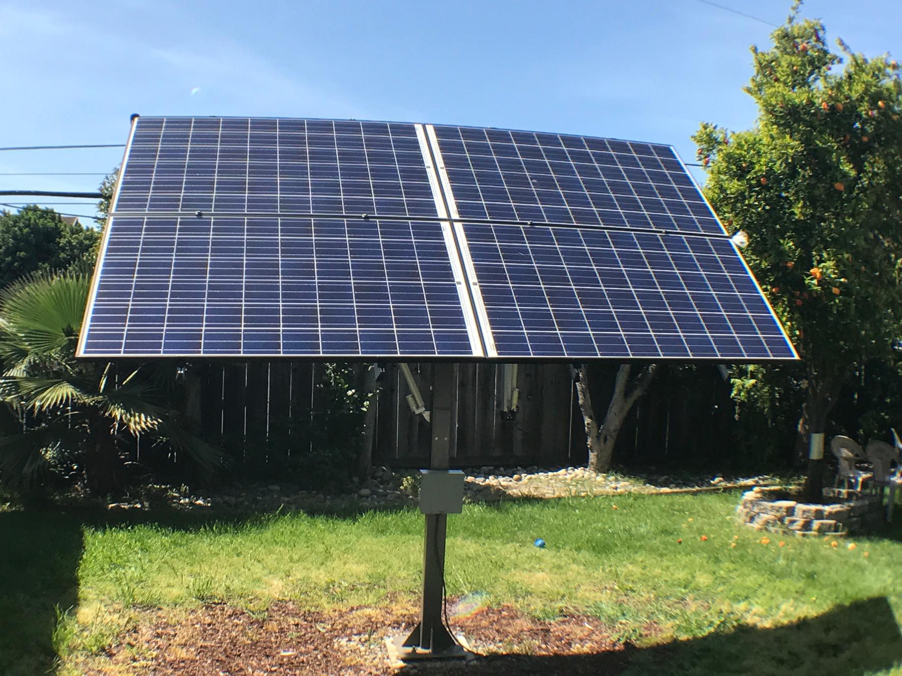 Suntactics Dual Axis Solar Tracker San Jose Ca