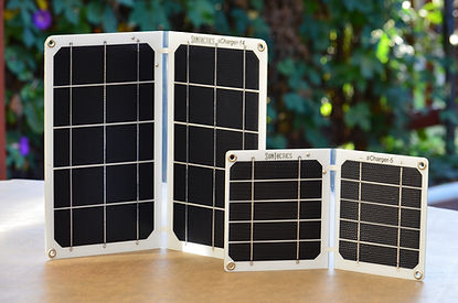 Solar chargers on the table