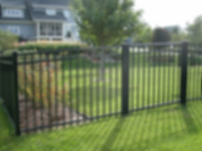 Black aluminum fence, with  installation by Tidewater Virginia Peninsula fence contractor