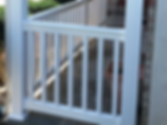 Vinyl railings & columns  offered by Tidewater Virginia Peninsula decking contractor