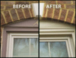 Vinyl Aluminum Trim Wrap, before and after, window