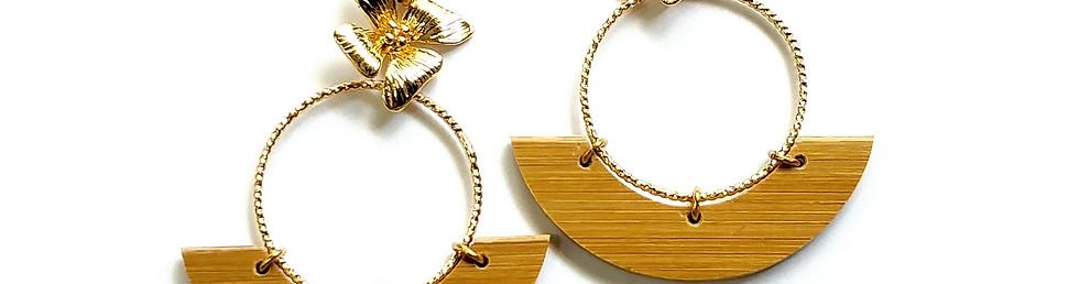 Idyllic bijoux, création lyon, boucles d'oreilles