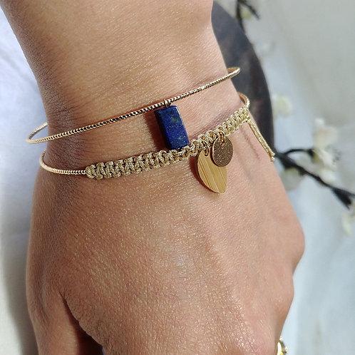 Jonc double lapis lazuli