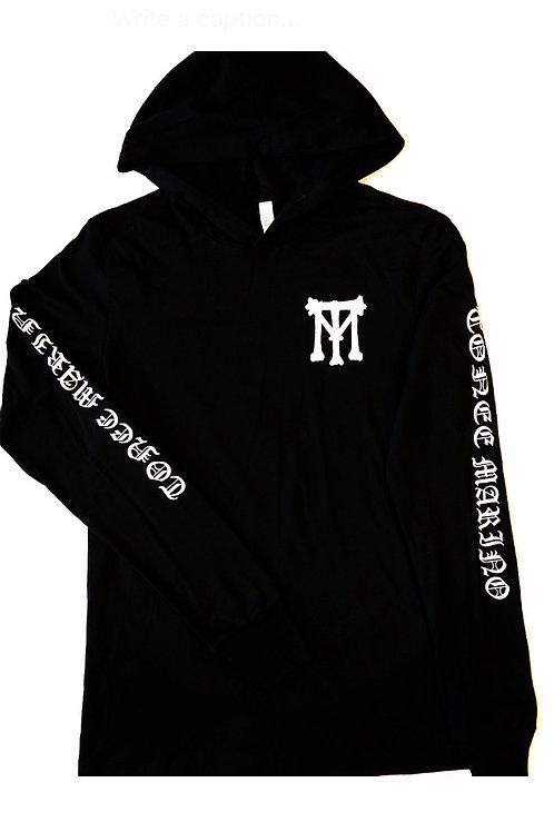 Men's Black TM Thin Hoodie