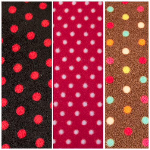 Polka Dots Fleece Embroidered Collar