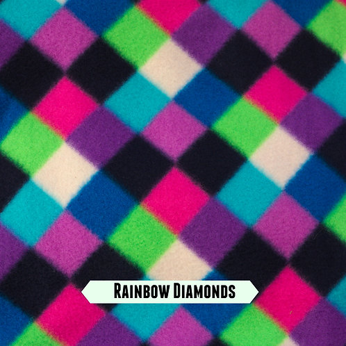 Rainbow Diamonds Fleece Embroidered Leads
