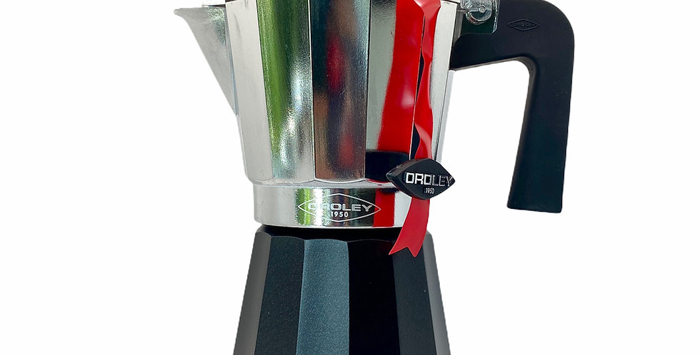 Cafetera italiana Oroley bi-color 3/6 tazas