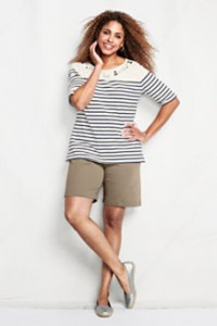 My sporty knit shorts from LandsEnd.com