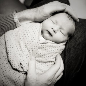 My beautiful baby girl, just a few hours after her birth.