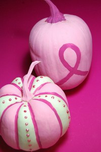 Breast Cancer Awareness Pumpkins designed by Alexa Westerfield @ The Swell Life