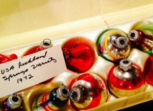 I am obsessed with these vintage glass ornaments. Mom found them in a five and dime store in the early '70's.