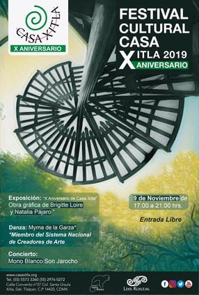 Festival cultural Casa Xitla 2019 X Aniversario