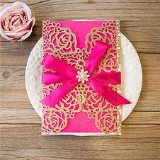 Gliter Gold wedding invitations