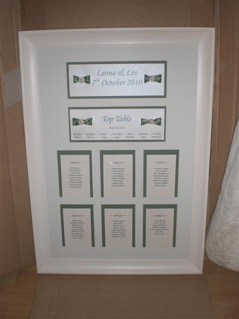 Table Plan / Table Number Cards