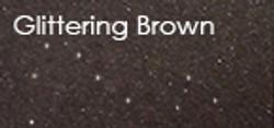 glittering brown